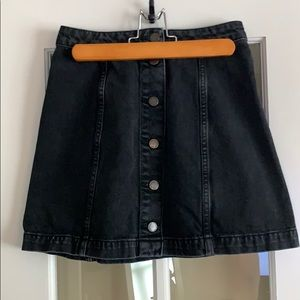 Topshop button front denim skirt